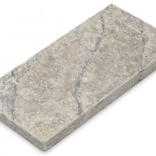 Plosca Tumbled   Silver Travertine